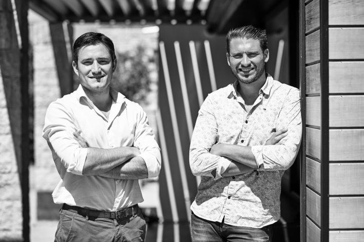 L'équipe de l'agence d'architecture Chunky à Baonne au Pays basque : Pierre-Augustin Boucton et Fabrice Bisauta