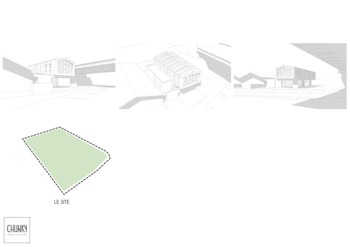 Création d'une annexe au restaurant du Bouchon Basque à Bayonne Schéma technique du site
